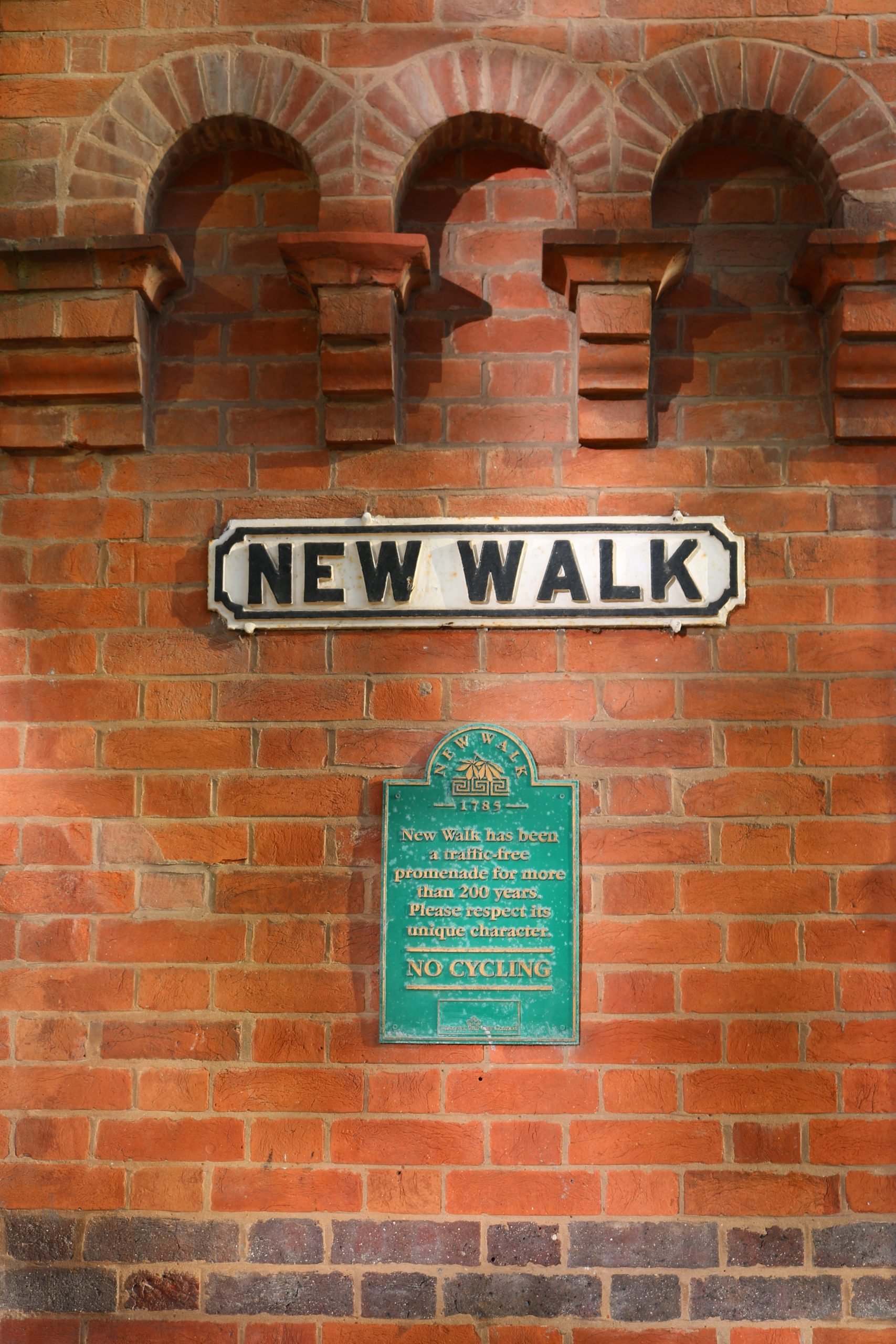 Signs on New Walk, Leicester